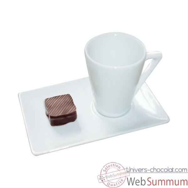 Video Autrement Chocolat-Tasse expresso porcelaine.