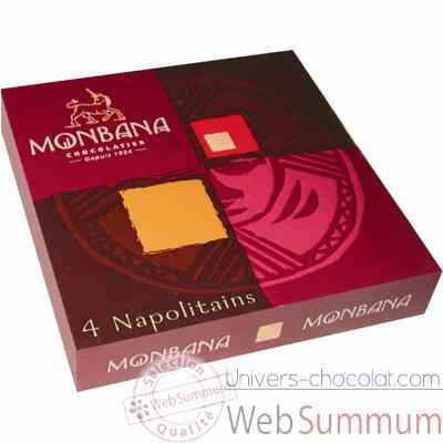 Video Lot de 24 etuis de 4 chocolats napolitains Monbana -11180132