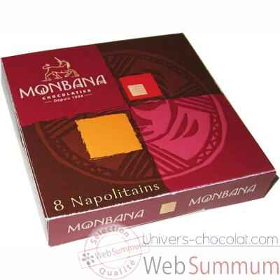 Video Lot de 24 etuis de 8 chocolats napolitains Monbana -11180133