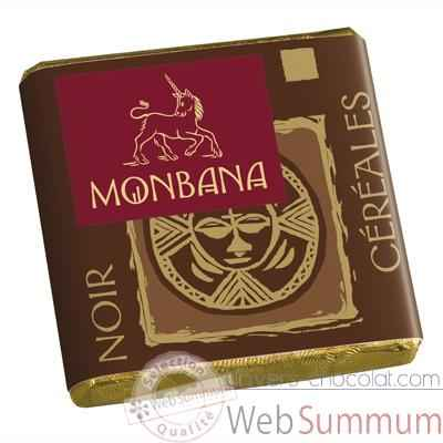 Video Chocolat Napolitain Noir aux cereales croustillantes 9% Monbana -11120040