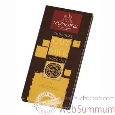 Presentoir 12 tablettes chocolat lait cereales Monbana -11910002