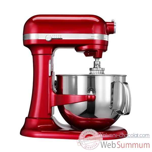 Kitchenaid robot 6.9 l bol inox pomme d'amour - artisan mix with the best Cuisine -8673