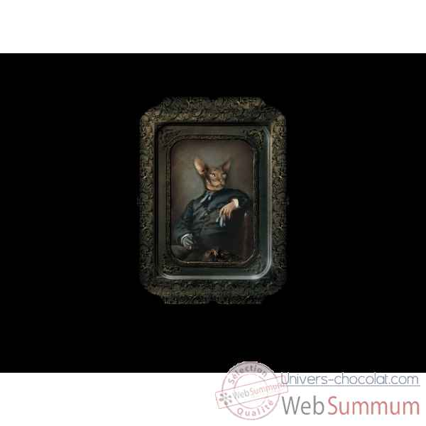 Visconti plateau tableau rectangulaire chat edgar ibride
