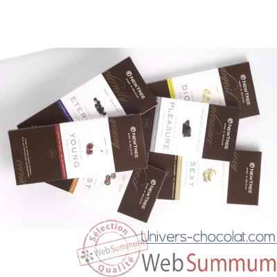 Newtree-Lot de 6 tablettes Chocolat Noir, tablette de 80g.