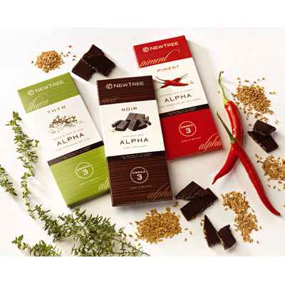 Newtree-Lot de 3 chocolat, tablettes 80g-lotchoc