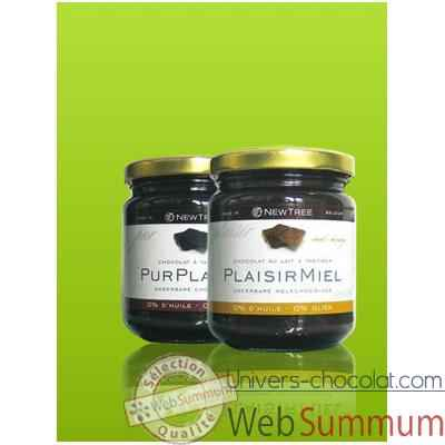 Video Newtree-Chocolat a tartiner Plaisir Miel, pot de 250 g -341064