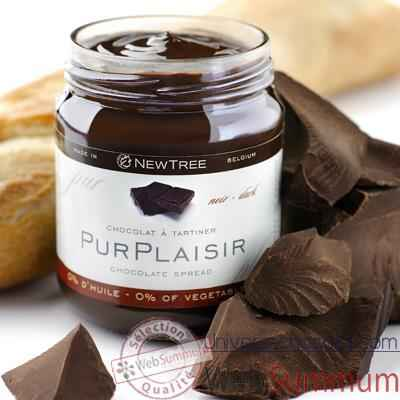 Newtree-Lot de 6 pots Chocolat a tartiner Pur Plaisir, pot de 250 g -341057